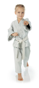 girl in karate gi